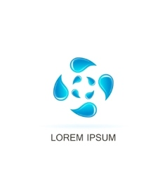 template water logo vector image
