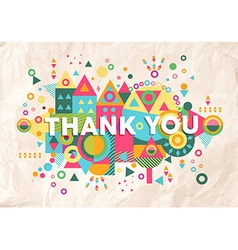 Thank you quote poster design background vector