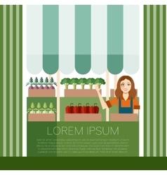 Vegetable market banner vector image