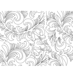 Wallpaper in the style of baroque a pattern vector