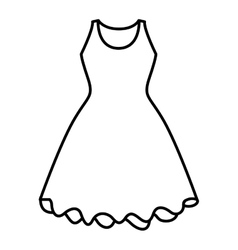 Isolated female dress cloth design vector