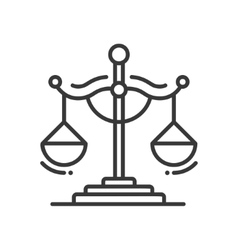 Scales of justice - line design single isolated vector