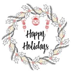 Christmas modern calligraphy happy holidays hand vector