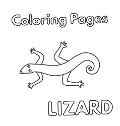cartoon lizard coloring book vector image