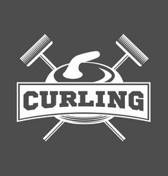 Vintage curling labels and design elements vector