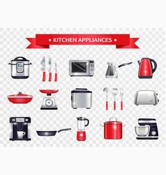 Kitchen appliances set vector