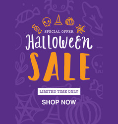 Halloween sale poster or flyer design Royalty Free Vector