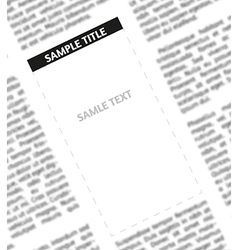 Unsharp newspaper vector