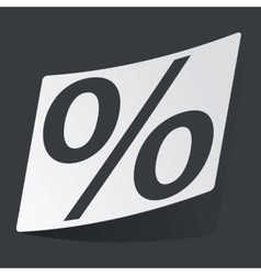 Monochrome percent sticker vector