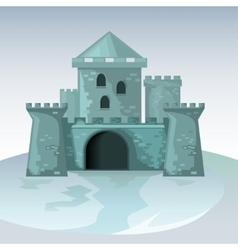 Gray brick castle vector