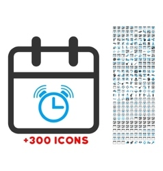 Alarm date icon vector