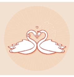 Design element for wedding greeting card vector
