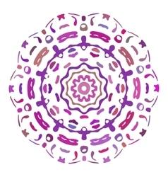 Hand drawn mandala colorful vector