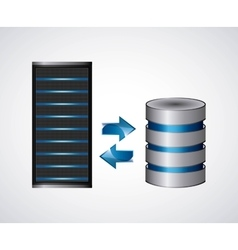 Web hosting icon technology design vector