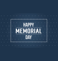 Background of memorial day style collection vector