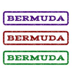 Bermuda watermark stamp vector