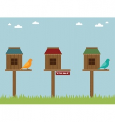 bird house sale vector image vector image