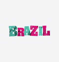 Brazil concept stamped word art vector