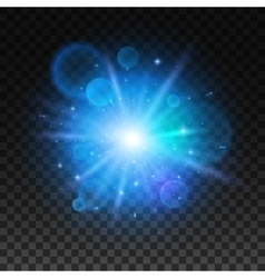 Bright star explosion light lens flare sparkle vector