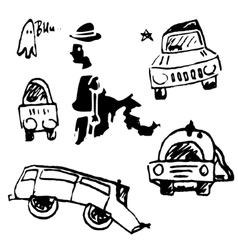 Cars on a white background vector