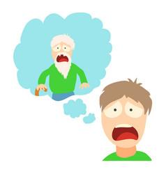 gerontophobia concept cartoon vector image