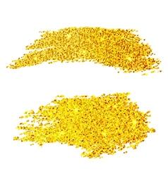 Golden glitter samples isolated on white vector image