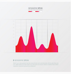 Graph and infographic design pink color vector