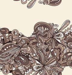 Hand-drawn abstract seamless pattern vector image vector image