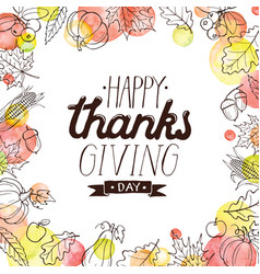 happy thanks giving vector image