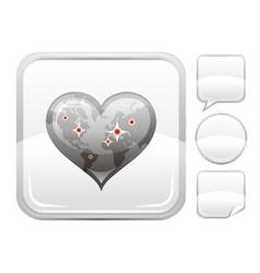 Happy valentines day romance love world map heart vector