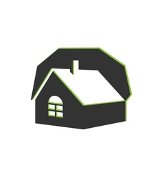 house real estate icon vector image vector image