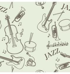 jazz instruments pattern vector image