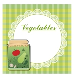 Label for canned vegetables vector
