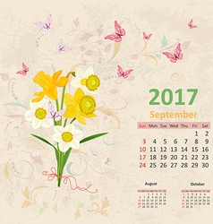 Lovely bouquet of yellow and white daffodils on vector