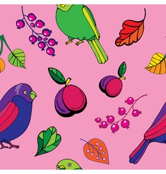 parrot pattern vector image vector image