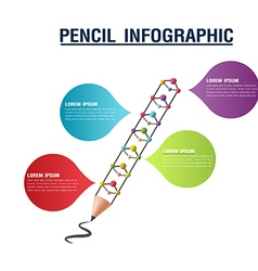 Pencil Info Graphic Color Presentation vector image vector image
