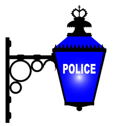 Police station blue light vector