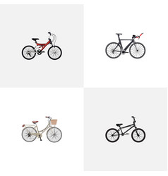 realistic competition bicycle extreme biking vector image vector image