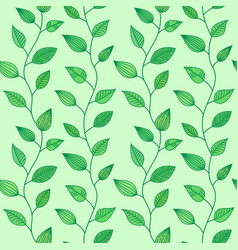 Seamless pattern with decorative leaves summer vector