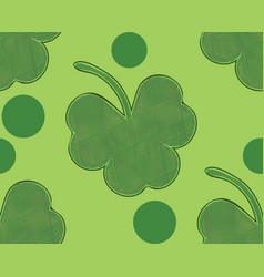 shamrock background design vector image