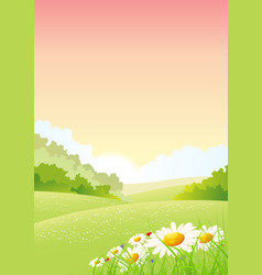 Summer or spring morning seasons poster vector
