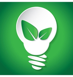 Think green save earth vector image