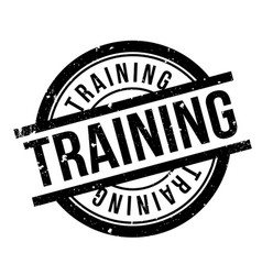 training rubber stamp vector image vector image