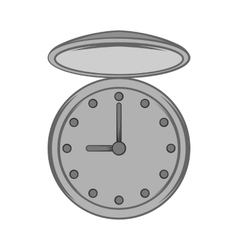 Pocket watch icon black monochrome style vector