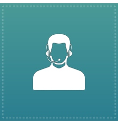 Call center operator with headset vector