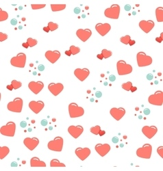 Seamless pattern with cute and chic hearts on vector image
