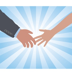hands of a man and a woman vector image