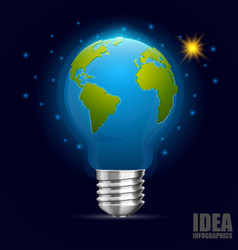 creative idea earth green energy vector image