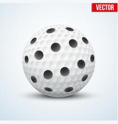 White floorball ball vector