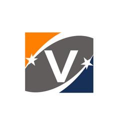Success solution letter v vector
